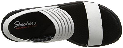 Skechers, Sandali donna nero Black Blanc