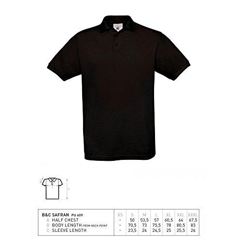SECURITY POLO-SHIRT Schwarz - Brust & Rücken bedruckt, T-Shirt Größe:L