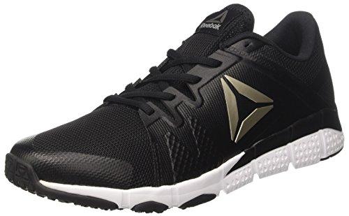 Reebok Herren Trainflex Schuhe Indoor-Multisport Schwarz (Black/white/pewter/grey)