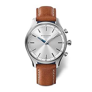KRONABY SEKEL Herren Connected Uhren A1000-0658 eine traditionelle Uhr mit Smartwatch Funktionalitäten 43 mm Gehäusedurchmesser Saphirglas 100 M wasserdicht