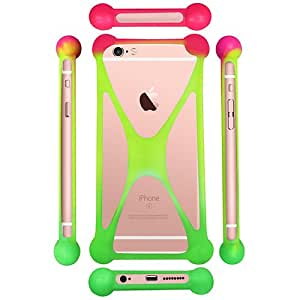 Casotec Universal Silicone Bumper Frame Soft Gel Phone Case Cover for Panasonic P5 Note - Multicolor