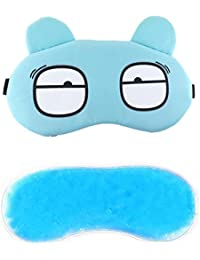 Jenna Mellon Cartoon Polyester Ice Gel Eye Mask for Insomnia, Meditation, Puffy Eyes and Dark Circles - Blue