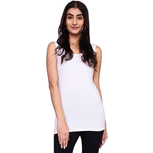 VOEUX INDIA Women's Tank Top -XL Size-White