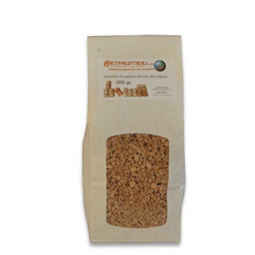 Artimestieri - granulato di sughero 3/14 per bricolage e fai-da-te - 1000 g