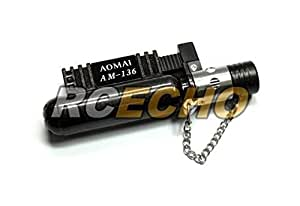 Aomai AM-136 Gas Refillable Jet Flame Lighter (Black) L068O