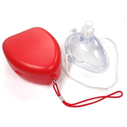 carejoy Erwachsene/Kinder Größe CPR Tasche Stück Rescue Maske, CPR face-mask (Kissen Valve)