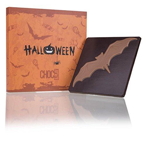 ChocoQuadrat 'Fledermaus' - Halloween Geschenke, Halloween Süßigkeiten, Halloween Schokolade, Geschenke zu Halloween