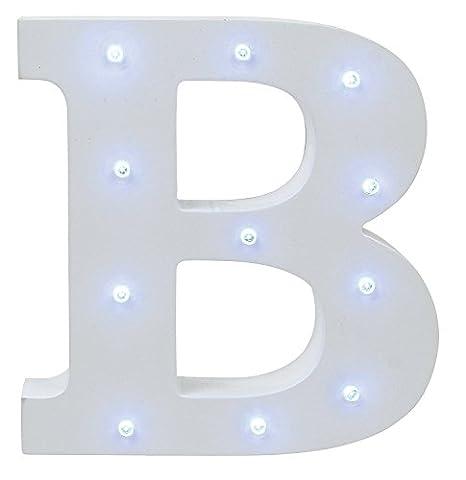 Vintage Carnival Lumineux LED - S7 SEVEN Allumez le panneau de signalisation en bois (B)