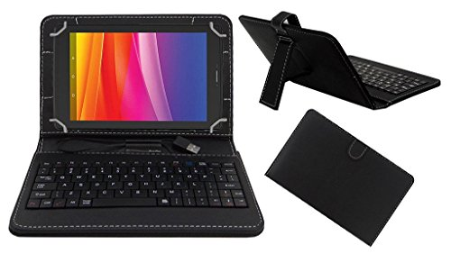Acm Premium Usb Keyboard Case For Micromax Canvas Tab P702 Cover Stand With Free Micro Usb Otg