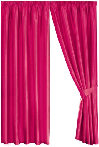 Mason Gray Dreams 'n' Drapes Java Cerise Eyelet Lined Curtain 90×108