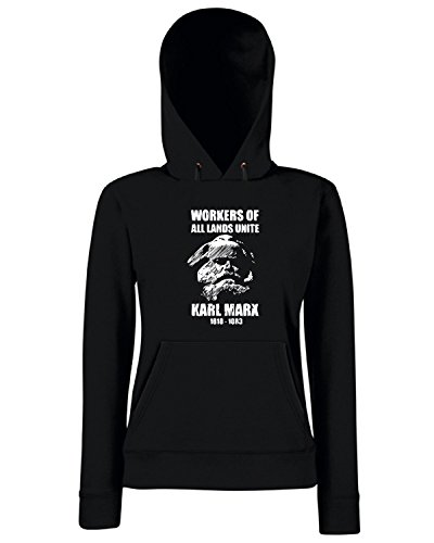T-Shirtshock - Sweats a capuche Femme TCO0104 marx Noir