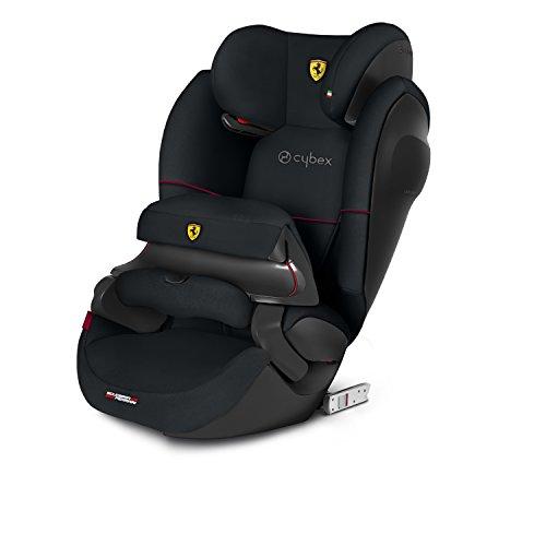 CYBEX Silver 2-in-1 Kinder-Autositz Pallas M-Fix SL Scuderia Ferrari, Für Autos mit und ohne ISOFIX, Gruppe 1/2/3 (9-36 kg), Ab ca. 9 Monate bis ca. 12 Jahre, Victory Black