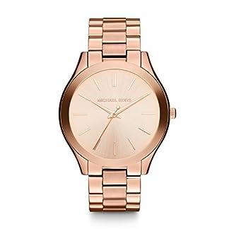 Michael Kors Slim Runway Tono Dorado 3Mano Reloj
