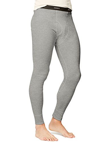 Heather Grey Thermal (Hanes X-Temp Men`s Thermal Pant, 14520, M, Heather Grey)
