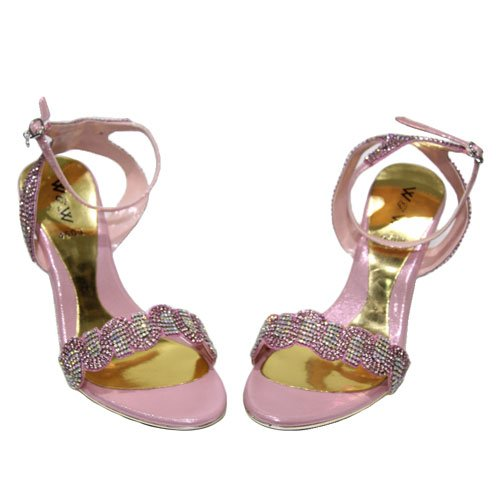 Wear & Walk UK , Damen Sandalen black/gold/pink/red/silver Babyrosa