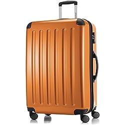 HAUPTSTADTKOFFER - Alex - Maleta Rígida Equipaje Grande, Candado TSA, Trolley con 4 Ruedas multidireccionalr, TSA, 75 cm, 119 litros, Orange
