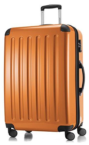 HAUPTSTADTKOFFER - Valigia Rigida Alex, 4 Doppie ruote, TSA, Taglia 75 cm, 119 Litri, Colore  Arancione