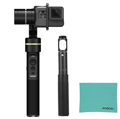 Feiyu G5 3-Axis Handheld Gimbal Action Camera Stabilizer Splash-Proof Design per GoPro HERO5 HERO4 HERO3, Yi Cam 4K, AEE e Action Cameras of Similar Size+Andoer G4/G5 Series Gimbal Adjustable Bar