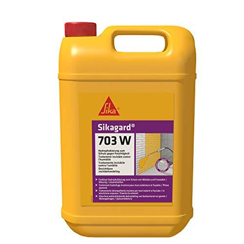 Sikaguard 703W, Repelente al agua para fachada y proteger frente a la penetración de agua, 5L