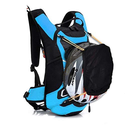 LQSJB Fahrradrucksack, 12L wasserdichter, atmungsaktiver Fahrradrucksack, Multi-Aufbewahrungsbeutel, ultraleichter Outdoor-Rucksack zum Bergsteigen