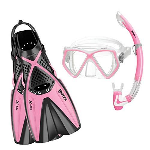 Mares X-One - Juego de máscara de Buceo Pirata para niña, niña, Color Rosa, tamaño Small