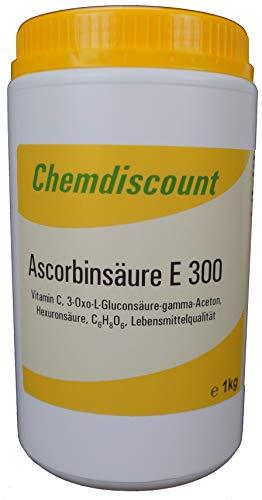 Ascorbinsäure (Vitamin C) in Lebensmittelqualität E300 1 kg in einer stabilen Dose