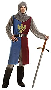 My Other Me - Disfraz para hombre Caballero Medieval, S, color azul y granate (Viving Costumes 202791)