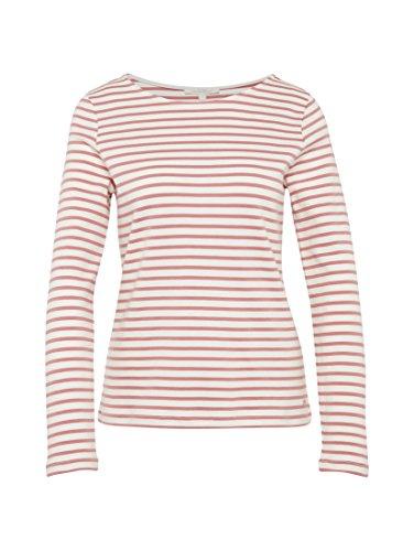 TOM TAILOR Denim Shirt Gestreiftes Langarmshirt Rose