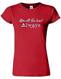 Harry Potter-Frauen-T-Shirt Deathly Hallows Crewneck Top Tee