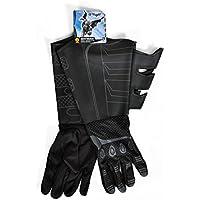 Batman The Dark Knight tela accesorio del traje guantes de adultos / imitación de cuero