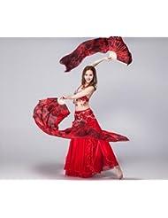 Accesorios de danza danza del vientre ventilador , black / wine red left