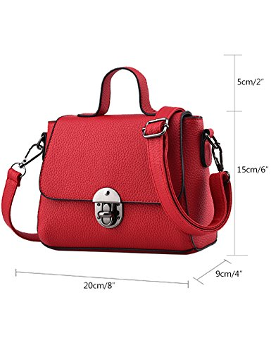 Menschwear Damen PU Handtaschen Damen Handtasche Schwarz Handtasche Schule Damen Handtaschen Lila Rot-wien