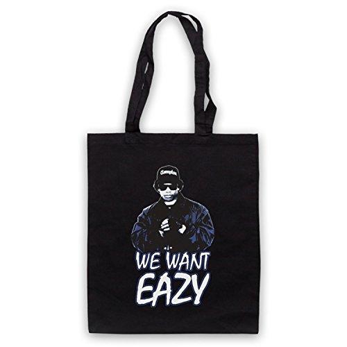 Inspiriert durch Eazy E We Want Eazy Picture Inoffiziell Umhangetaschen Schwarz