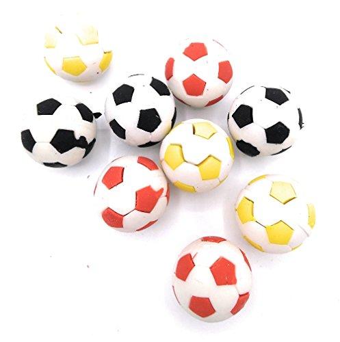 24 Radiergummi Fußball verschiedene Farben