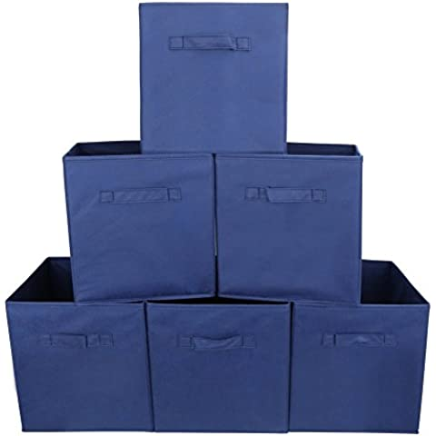 EZOWare Caja de Almacenaje con 6 pcs, Set de 6 Cajas de juguetes, Caja de Tela para Almacenaje,