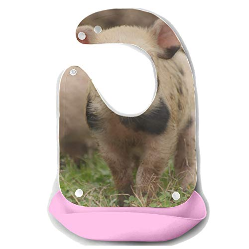 ZHANGhome Lätzchen Für Baby Vieh Nette Lustige Junge Schwein Abnehmbare Silikon Fütterung Schürze Maus Handtuch Baby Fütterung Dribbeln Sabber Lätzchen Säuglingsernährung Baby Lätzchen -