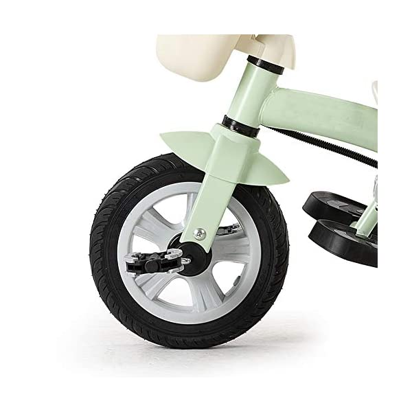GSDZSY - Adjustable Size Children Tricycle,With Detachable Push Rod,EVA Tire/Rubber Tire Non-slip And Wear Resistant,easy Installation, 18 Months - 5 Years Old,Red GSDZSY ❀ Material: High-carbon steel +ABS+EVA wheel / rubber wheel ,Suitable for 18 Months to 5 years old Child, Maximum Load 30 kg ❀ The Push Rod can be adjusted , With a Steering Rod , Helps to develop your child's motor skills. Size:105 X 51 X75(cm) ❀ Sturdy frame and light weight, the handlebar has a protective sponge cover to protect the child's forehead 9