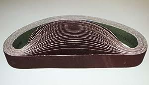 Lot de 10 bandes de tissu 50 mm x 1020 p100 ponceuse aiguiseur scheif bande ponceuse grain 100 adhésive