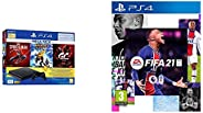 PS4 1TB Slim Bundled with Spider-Man, GTaSport, Ratchet & Clank And PSN 3Month&FIFA 21 Standard Editi