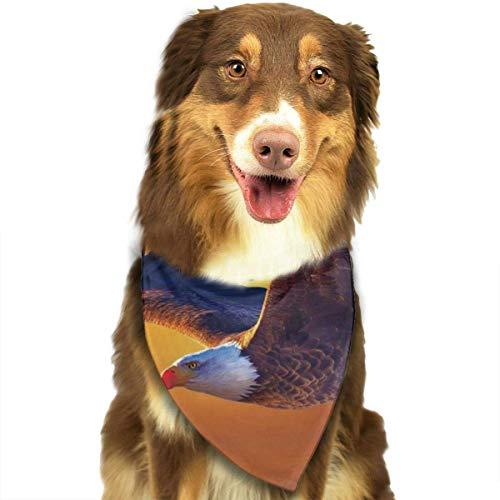 Mann Eagle Kostüm - Eagle Flying Over Water Sunset Pet Dog Cat Bandanas Triangle Bibs Pet Scarf Dog Neckerchief Headkerchief Pet Accessories