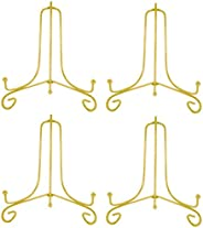 """Artliving (4 Pack) 6"""" Iron Display Stand, Gold Iron Easel Plate Display Photo Holder Stand, Displays Card"""