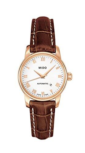 MIDO Baroncelli Ii Ø 29mm M76003268 - Reloj de mujer automático, correa de piel color marrón