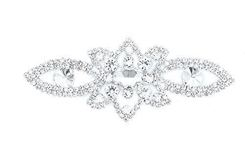 Strassstein Motiv Strass Kristalle Zum aufnähen Applikation Flicken - Perfekt für Hochzeit Braut Kleid, Freizeit oder Formelle Bekleidung Mode-accessoires 125mm x 50 mm (ca.) Patch Nr. A009