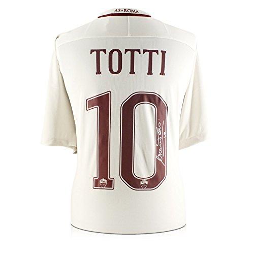 Exclusive Memorabilia Francesco Totti signiert AS Roma 2016–17 Auswärtshemd: Die letzte Saison