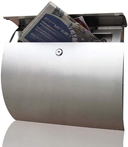 Briefkasten Wandbehang Briefkasten mit Schlüsseln Rostfreier und wetterfester Großraum-Briefkasten mit halbrundem Querschnitt Briefkästen zur Wandmontage für das Büro zu Hause