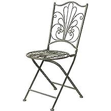 Linoows Nostalgie Chaise De Jardin Style Colonial Altenglischen Antique Vert