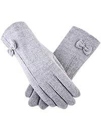 b6ca772313d1 Packs Bonnet, écharpe et Gants Gants Gants Dames épaississement Plus Laine  de Velours Tricot Chaud