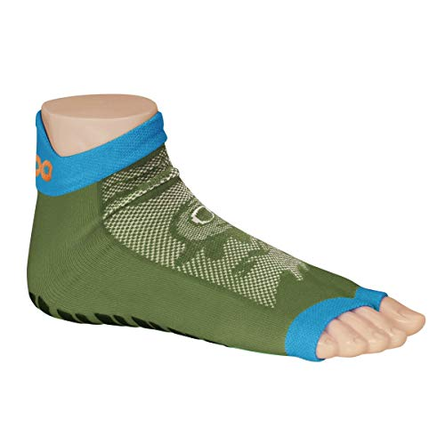 Ockeyz Sweakers Character Green - Anti-Rutsch Schwimmsocken- leichte Socken mit dünnem Stretchgewebe und offenen Zehen
