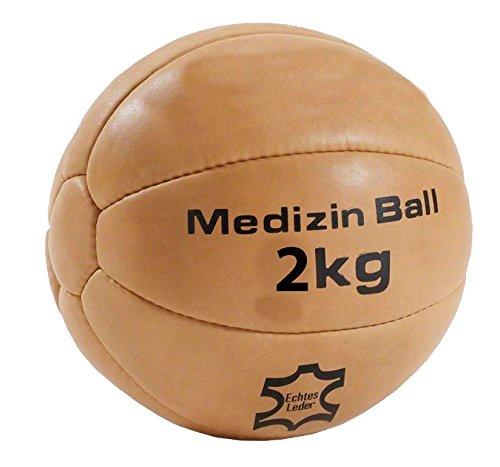 #Medizin-Ball aus Echt-Leder (2-KG)#