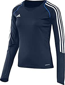 adidas Damen Langarmshirt T12 Team Climacool Longsleeve X13172, Navyblau/Weiß, 52, 703974052